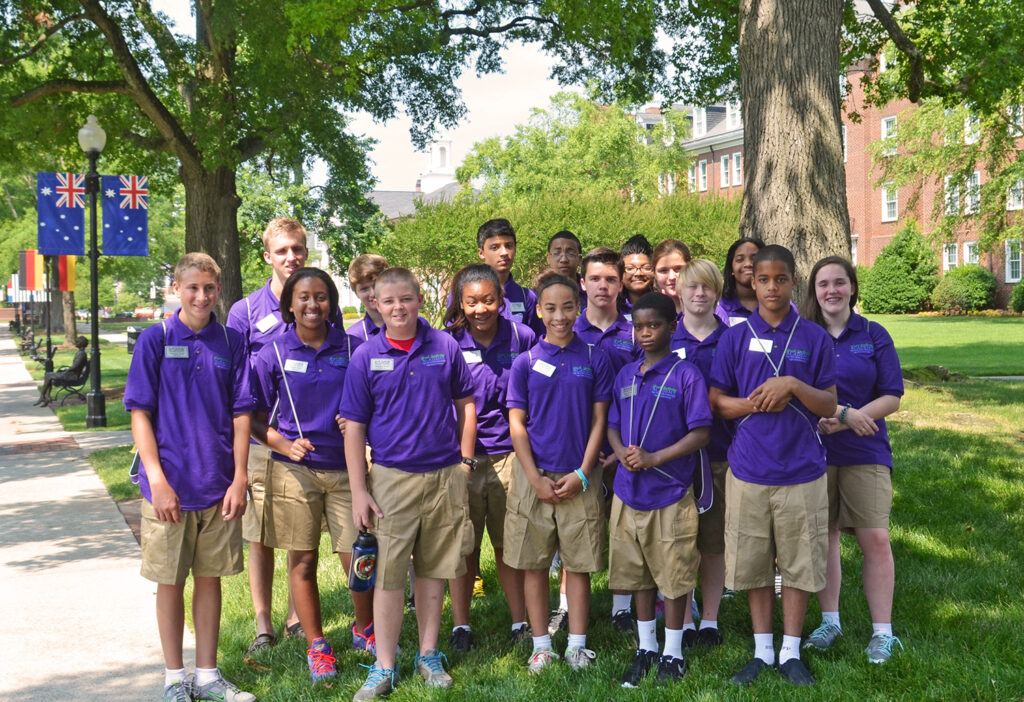 Local students participate in the Leadership Academy, hosted by HPU and the High Point Police Department.