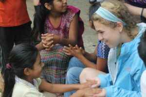 Lisa worked with local children during her trip with HPU to Guatemala