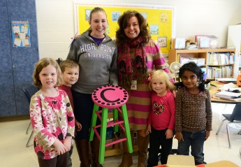 Students Deliver 'Literacy Stools' to Florence Elementary Teachers