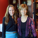High Point University Senior Sally Evans with writer Diane Chamberlin