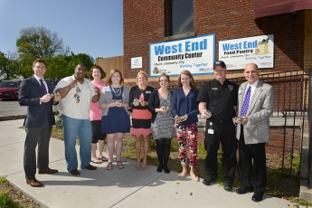 HPU Family Donates Lock and Key System to West End Ministries