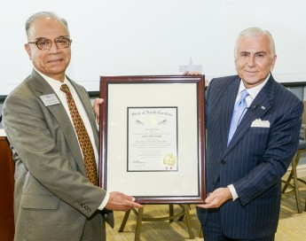 Zaki Khalifa Honored with Long Leaf Pine Award at HPU
