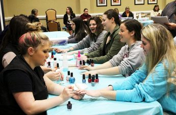 HPU Students Fight Cervical Cancer with Blowouts and ManiCURES Event