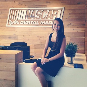 Communication Major Interns with NASCAR Digital Media