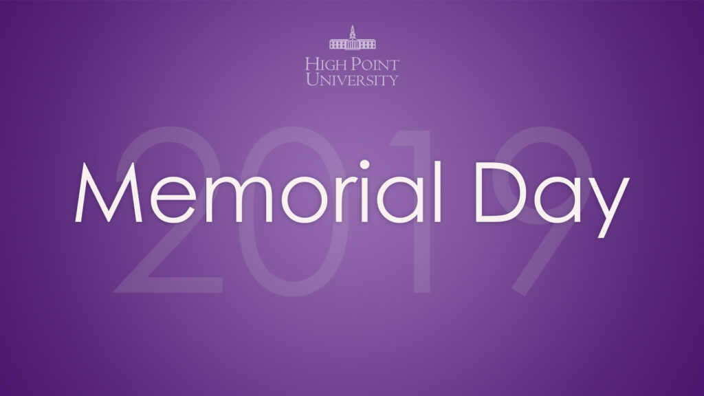 Memorial Day Message from Dr. Nido R. Qubein