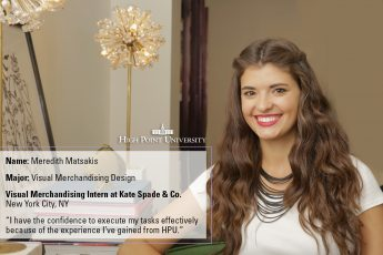 Kate Spade & Company Selects Senior for Summer Internship
