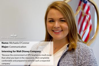 Senior Selected Out of Hundreds for Walt Disney Company Internship