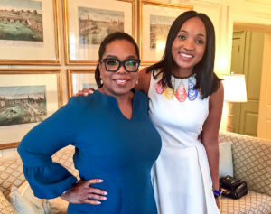 Mpumi Nobiva and Oprah