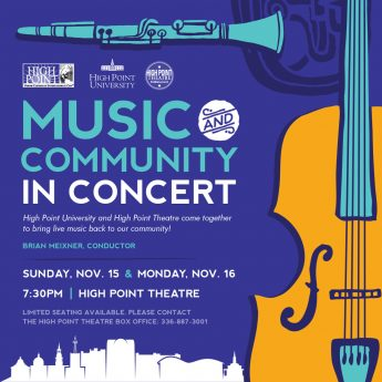 HPU Partners with High Point Theatre to Offer Music for Community Members
