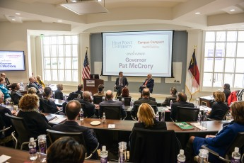 HPU Hosts NC Governor and Hundreds of Education Leaders for Campus Compact