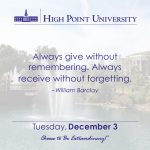Always give without remembering. Always receive without forgetting. William Barclay