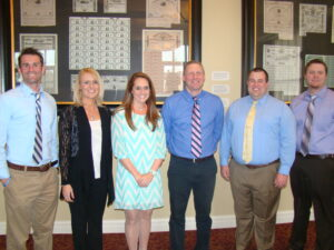 Pictured from left to right are Andrew Corbin, Melissa Tatum, Kristina Wheat, Dr. Dustin Johnson, Bruce Carroll and Carl Cruthis.