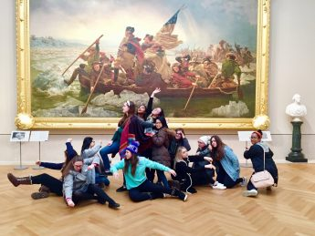 HPU Art and Design Students Tour NYC Galleries and Museums
