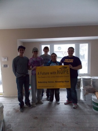 Students Renovate Home Devastated by Hurricane Sandy During Spring Break