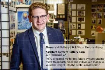 Class of 2017 Outcomes: Nick Bellamy Furnishes his Future at Pottery Barn