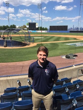 Baseball Internship Helps Student Prepare for Future Career
