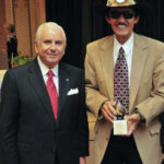 NASCAR legend Richard Petty with President Nido Qubein at the Triad Philanthropy Day Awards Ceremony. Qubein delivered the keynote address to the Association of Fundraising Professionals at Grandover Resort.