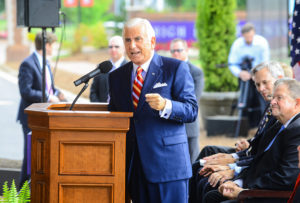 HPU President Nido Qubein shared his visions for the Congdon School of Health Sciences and Fred Wilson School of Pharmacy at the groundbreaking ceremony.