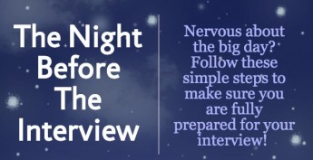 National Business Etiquette Week – The Night Before the Interview