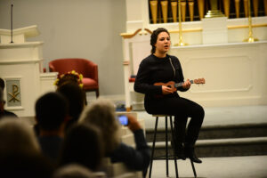 HPU student Ashley Russell performs at last year's event.