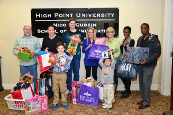 Qubein School of Communication Provides Gifts to Local Families