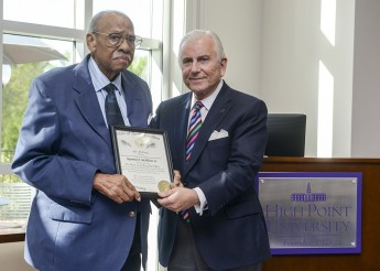 Raymond McAllister Honored with Long Leaf Pine Award at HPU