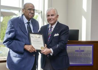 Raymond McAllister Honored with Long Leaf Pine Award at HPU