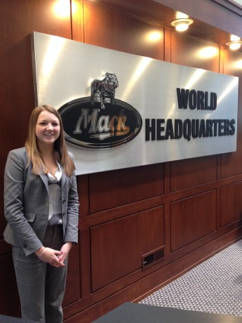 Senior Gains International Business Experience with Mack Truck Internship