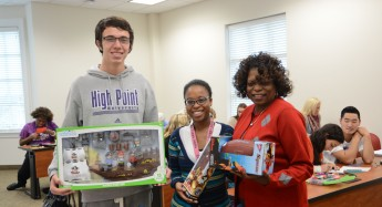 Psychology Class Donates Toys and Cards to Local Elementary Students