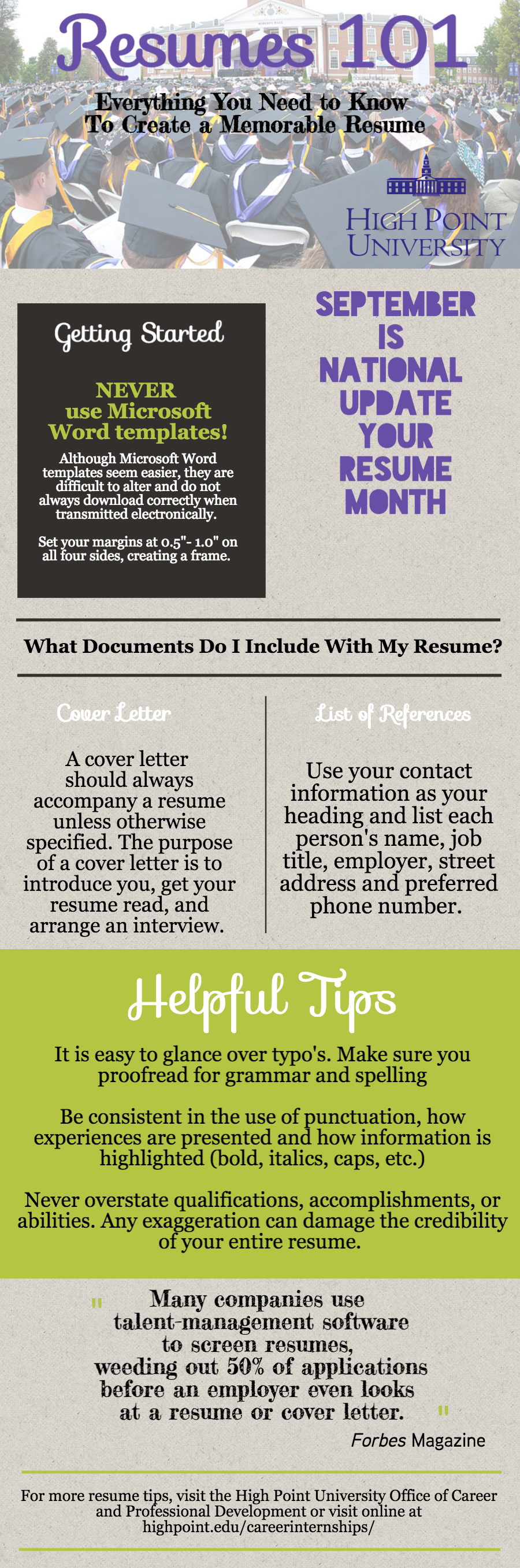 Resumes 101 Sept. 17