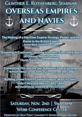 HPU to Host 'Overseas Empires and Navies' for Annual Rothenberg Seminar