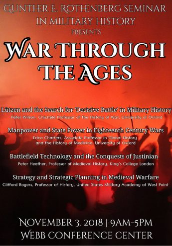 HPU to Host 'War Through the Ages' for Rothenberg Seminar