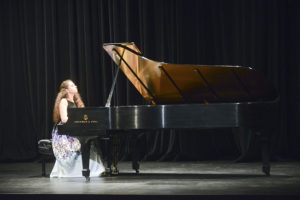 Sasha competes in the inaugural HPU Piano Competition in 2015.