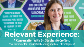 Relevant Experience: A Conversation with Dr. Stephanie Crofton