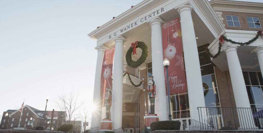 High Point University Campus Christmas Decorations 2019