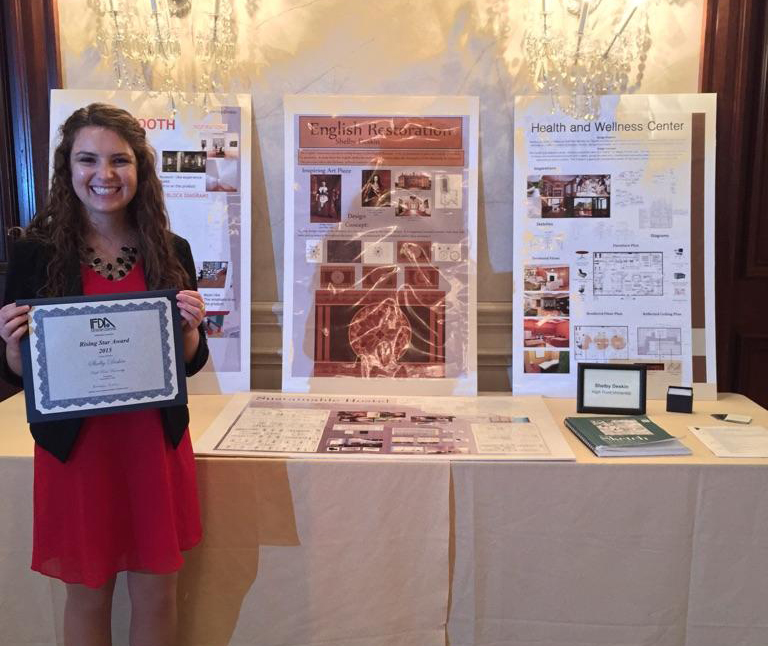 interior design student named rising star high point university rh highpoint edu Interior Design Programming major in interior design