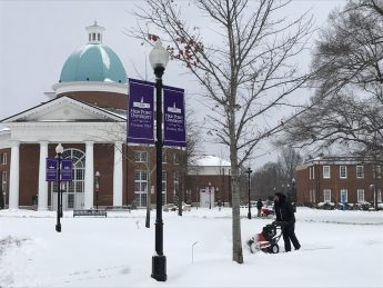 Campus Prepped for Safety During Winter Storm