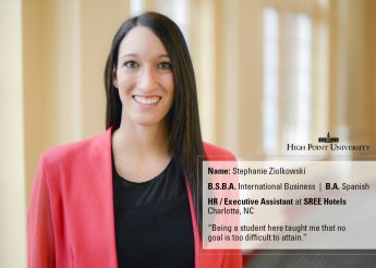 Class of 2016 Profile: Stephanie Ziolkowski Serves at SREE Hotels