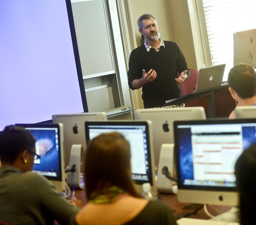 Steve Sapienza presents at High Point University