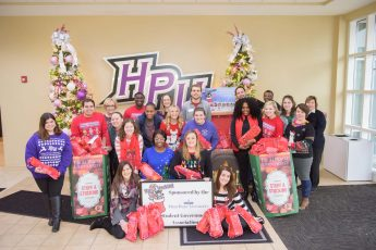 HPU Family Gives 600 Stockings to Salvation Army