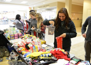 HPU Family Donates More Than 750 Stockings to Salvation Army