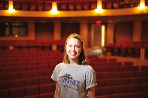 Junior Rachel Garrett won the stage management competition.