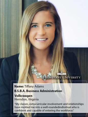 Class of 2018 Profile: Tiffany Adams Takes a Position at Volkswagen
