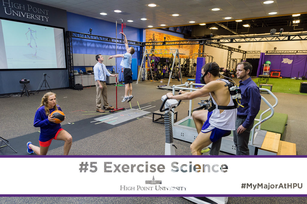 the bachelor of science in exercise science at high point university prepares students for graduate study in the fields of physical and occupational therapy