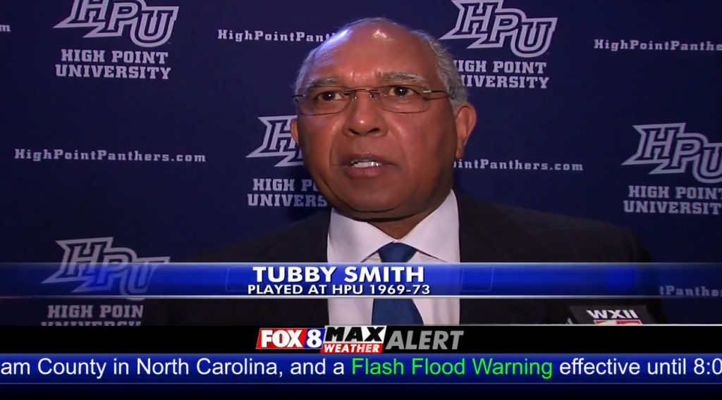 Fox 8: Basketball Coach Tubby Smith Inducted into HPU Hall of Fame