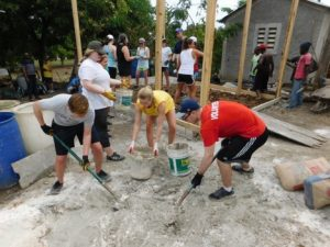 HPU students build a home in Haiti