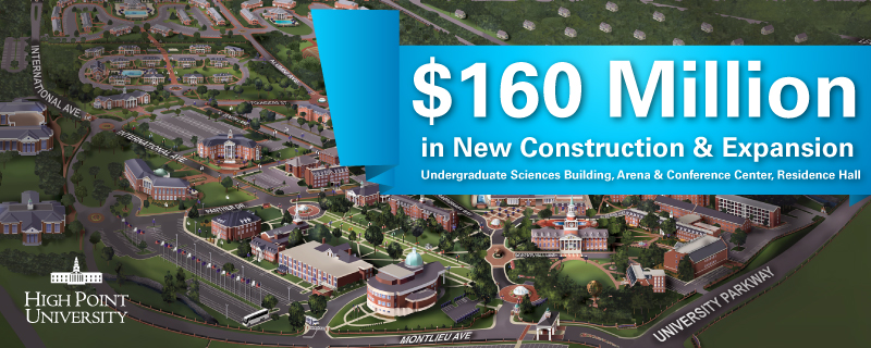 Großhandel HPU Announces $160 Million in New Construction | High Point  spare mehr