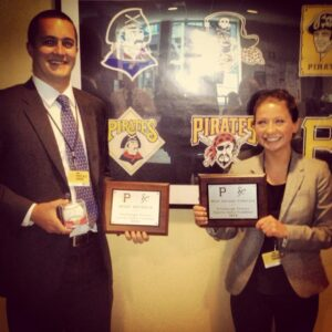 Lippard and SMA President Danielle Page at the Sports Sales Combine