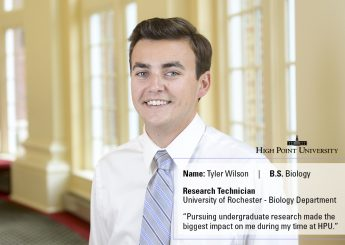 Class of 2016 Profile: Tyler Wilson Conducts Research in New York