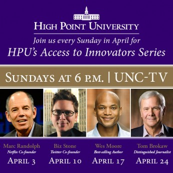 UNC-TV to Air 'High Point University Presents: A Conversation with Marc Randolph and Nido R. Qubein'